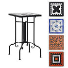 Mosaic Side Table Stand Side Table Ceramic Patio Garden Room Outdoor Decor Desk