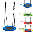 "24"" Flying Saucer Tree Swing Nest Hanging Rope Outdoor Garden Play Toys For Kids"