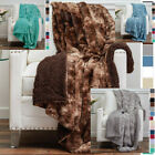 Cozy Blanket Throws Super Soft Faux Fur 9 Colors Reversible Plush Throw Blanket image