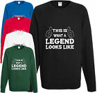 Legend Sweatshirt Gift Xmas Present Cool Birthday Jumper Funny Lads Stag Party H