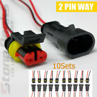 10 20 50 Kit 2 Pin Way Copper Electrical Connector Plug Male Female Wire Cable