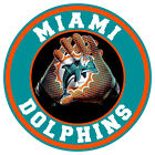 Miami Dolphins Vinyl Sticker Decal 9 Different Size Car Windows NFL football $14.00 USD on eBay