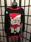 Isabella's Closet Women's Disgruntled Cat Ugly Christmas Sweater