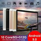 "10.1"" WiFi Tablet Android 9.0 Pad 8 512GB 10 Core Tablet GPS Dual Camera 2020"