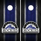 Colorado Rockies Cornhole Wrap Decal Stickers Vinyl Gameboard Skin Set JC014 on Ebay