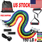 12 PCS / Set Resistance Band Fitness Workout Gym Tube Home Exercise Trainer US image