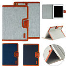 """Fr iPad 6th Gen 9.7"""" Mini 5 Air 2 Canvas Smart Leather Flip Case Stand Cover"""