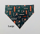 NHL Philadelphia Flyers Hockey Blocks Over Collar Slide On Pet Dog Cat Bandana $5.0 USD on eBay