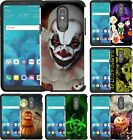 For LG K40 / K12 Plus / Solo LTE Case Halloween Scary Clown Hybrid Phone Cover
