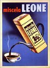 Caffe Miscela Leone 1950 Italian Coffee Advertisement Vintage Poster Print