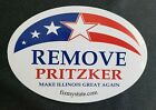 Kyпить FIX MY STATE - REMOVE PRITZKER Oval decal / bumper sticker - Novelty Illiniois на еВаy.соm
