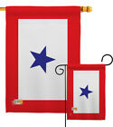 Blue Star Garden Flag Military Service Family Members Armed Forces Yard Banner