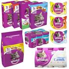 Whiskas Cat Food & Treats | Wet Dry Food Temptations Milk | Complete Balanced