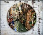 Venice Italy Houses Wall Clock Home Office Bedroom Living Room Kitchen Decor