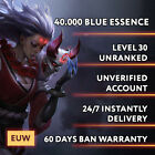 EUW League of Legends LOL Account Smurf 30.000 - 70.000 BE Unranked Level 30