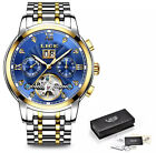 MENS DESIGNER WATCHES FOR MEN ROSE GOLD SKELETON MECHANICAL AUTOMATIC WATCH UK