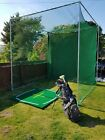 GOLF ULTIMATE  PRACTISE NET ENCLOSURE CAGE FRAME & NETTING & BAFFLE 3M X 3M X 3M