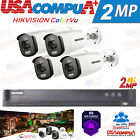 HIKVISION Color Vu SECURITY SYSTEM KIT 4MP 4K-UHD CAMERA  BULLET HDD INCLUDED