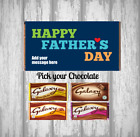 Personalised Father's Day Chocolate Bar - Personalised Wrapper - Pick Chocolate