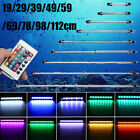 Aquarium Fish Tank 5050 RGB LED Strip Lights Bar Lamp Submersible Lights UK Plug