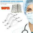 Kyпить 100PCS 85mm Aluminum Strip Nose Bridge Adhesive Face DIY Making Accessories US на еВаy.соm