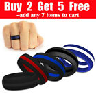 Kyпить 1PC His Striped Silicone Wedding Ring Band Flexible Outdoor Sport Ring на еВаy.соm