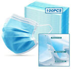 [Shipped from US] 50 Pcs 100 Pcs Disposable Dental Face Mask 3-Ply Mouth Cover