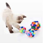 Handmade Funny Cat Pompon Ball Toys Pet Catch Play Chaser for Kitty & Dogs