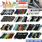 Womens Mens 6 Pairs Trainer Liner Ankle Socks For Adults Sports Shoes Boots Lot