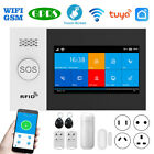 "4.3"" Full Touch WiFi GSM GPRS Wireless Alarm System Burglar Home Security SMS"