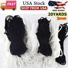 U.s 10-20 Yards 3mm Round Soft Elastic Band Cord Ear Hanging Sewing Crafts Diy