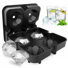 1 Pc Silicone Diamond Ice Cubes 4 Holes Continuous Mold Upper and Lower Home image