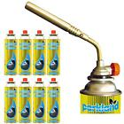 Flamethrower Burner Adjustable Blow Torch Ignition Camping Baking + Butane Gas