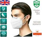 KN95 FACE MASKS - WHITE - POLLEN, DUST PROTECTION - NON MEDICAL SURGICAL UK