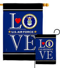 US Air Force Love Garden Flag Armed Forces Small Decorative Gift House Banner