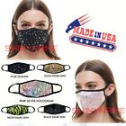 FixedPricefashion face mask (black-gold-silver-pink-neon)- reusable - washable made in usa