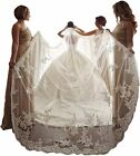 kelaixiang Elegant 1 Layer Lace Sequins Beaded Edge Bridal Wedding Veil with Com