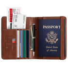 Slim Leather Travel Passport Wallet Holder RFID Blocking ID Card Case Cover US <br/> Free USPS First Class Mail ! Fast Free Ship!  US Stock!