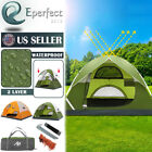 3-4 Person 2-Layer Family Camping Hiking Tent Waterproof Lightweight Portable US