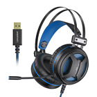 New Langsdom G2 USB 7.1 Gaming Headset RGB Light Headphone with Noise