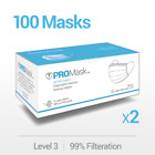 10 50 100 Promask Disposable Face Masks Medical Surgical Dental 3-ply Earloop