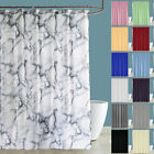 Plain Grey Shower Curtain With Free Hooks New Waterproof Fabric Bathroom Curtain
