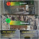 Remington Camouflage Bed Sheets & Pillowcase Set size FULL & TWIN Available CAMO
