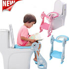 Adjustable Toddler Toilet Training Seat Potty with Non-Slip Ladder Step image