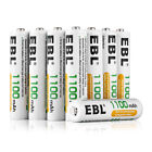 EBL Lot AA AAA Rechargeable Batteries 2800mAh 2300mAh 1100mAh 800mAh NI-MH + Box