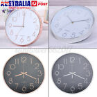 12'' Wall Clock Quartz Round Wall Clock Silent Non Ticking Battery Operated New