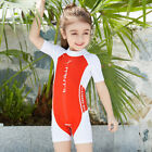 Kids Sun Protection One Piece Swimwear For Boys  Girls Surfing Rash Guards 523