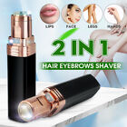 Women Facial Hair Remover Lipstick Body Epilator Battery Trimmer Lady Shaver LED