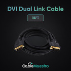DVI To DVI Cable Male To Male Dual Link DVI-D Monitor Display Wire 24 + 1 Pin