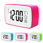 LED Digital Night Light Non Ticking Snooze Function Alarm Clock Battery Operated
